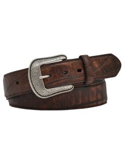 Men's Cognac Crocodile Belt