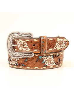 Ladies Tooled Floral Belt