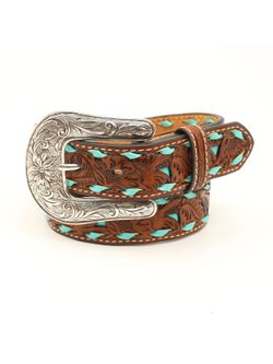 Kids Brown with Turquoise Inlay