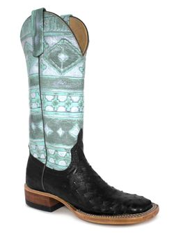 Ladies Anderson Bean Full Quill Ostrich Mint Navajo