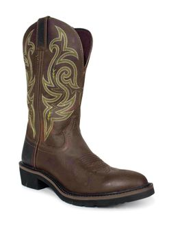 Men's Justin Teague Soft Toe Work Boots