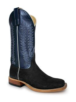 Men's Anderson Bean Black Poseidon Regal Blue Lustre