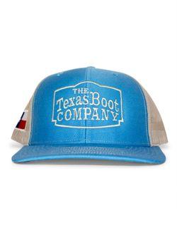 Men's Texas Boot Company Blue & Khaki  Twill Mesh Cap