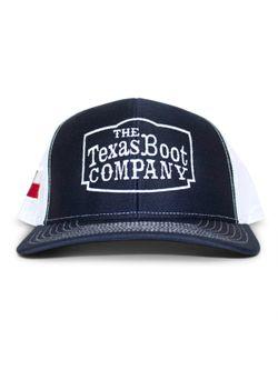 Men's Texas Boot Company Navy & White Mesh Cap
