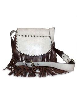 Juan Antonio Rodeo White Fringe Bag