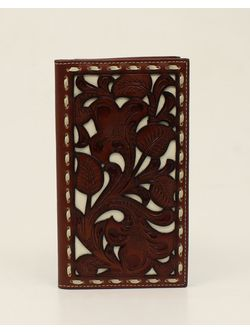 Men's Brown and with Inlay Wallet