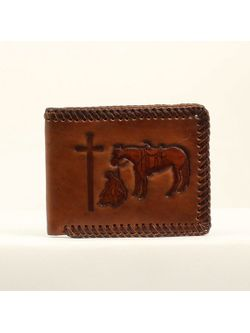 Men's Praying Cowboy Bi-Fold Wallet