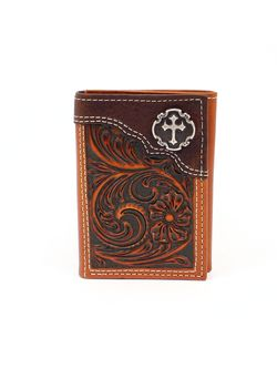 Men's Crossed Wallet Tri-Fold