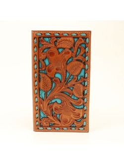 Men's Turquoise and Floral Inlay