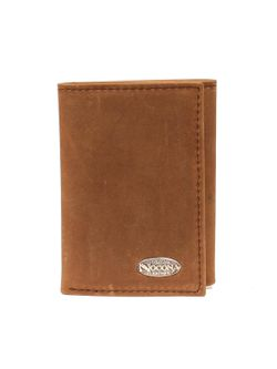 Men's Nocona Tri-Fold Brown Wallet