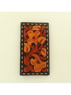 M&F Western Black and Brown Floral Inlay
