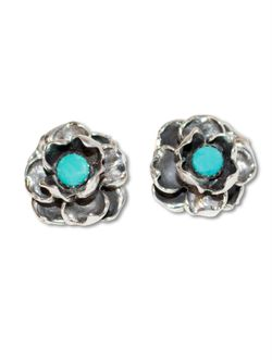Richard Schmidt Ladies Rose Post Stud Earrings