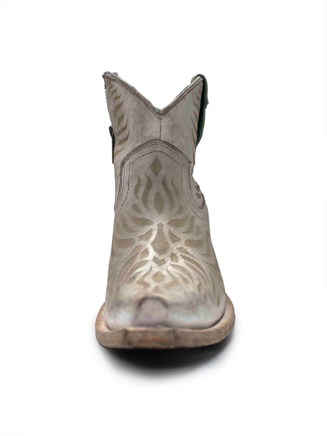 Ladies-Corral-White-Laser-Engraved-Ankle-Boots-228118
