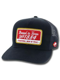Men's Hooey Hats Lone star Black Trucker