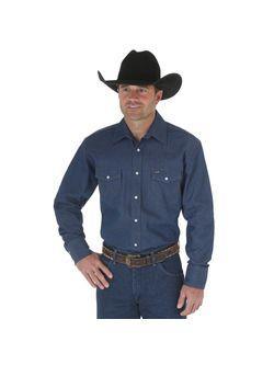 Men's Wrangler Authentic Cowboy Cut Work Shirt
