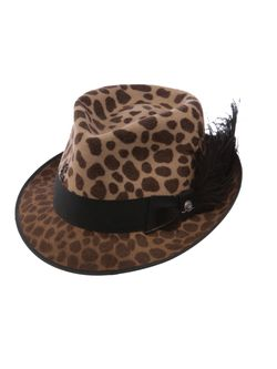 Ladies Charlie One Horse New Frontier Leopard Wool Hat