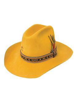 Ladies Charlie One Horse Saddle Tramp Yellow Wool Hat