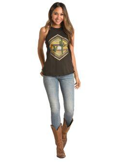 Ladies Rock & Roll by Panhandle Slim Cowgirl Geometric Desert