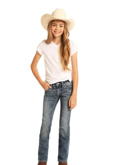 Girls Panhandle Slim  Medium Vintage Bootcut