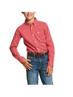 Kids Ariat Red Dwarf Long Sleeve Shirt
