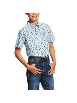 Kids Ariat Norristown Short Sleeve Shirt