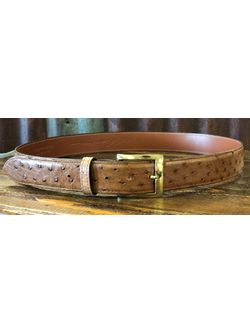 Men's Chacon Barnwood Ostrich 1 1/2 Belt