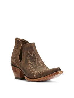 Ladies Ariat Weathered Brown Dixon Western Boot