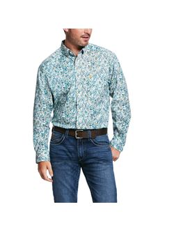Men's Riverbank Print Stretch Classic Fit Shirt