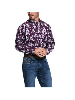 Men's Rio Print Stretch Classic Fit Shirt