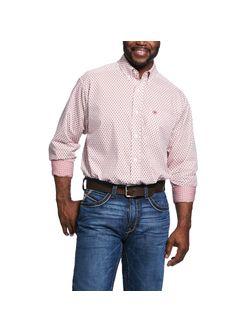 Men's Wrinkle Free Washington Print Classic Fit Shirt