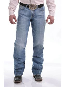 MEN'S RELAXED FIT GRANT JEAN LIGHT STONEWASH