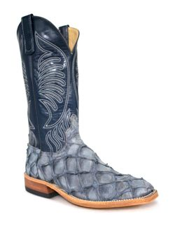 Mens Anderson Bean Titan Blue Big Bass Cowboy Boots