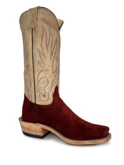 Mens Olathe Red Waxy Kudu Commander Roughout Boots