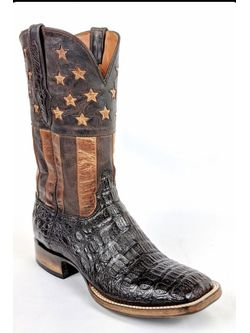 Pre-Orders for Men's Black Jack Chocolate All American  Caiman Crocodile Boots