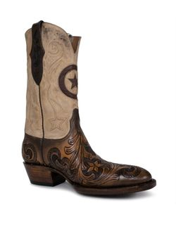 Men's Black Jack Round Toe Tooled Custom