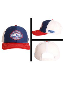 Mens Pandhandle Blue Cap With Red