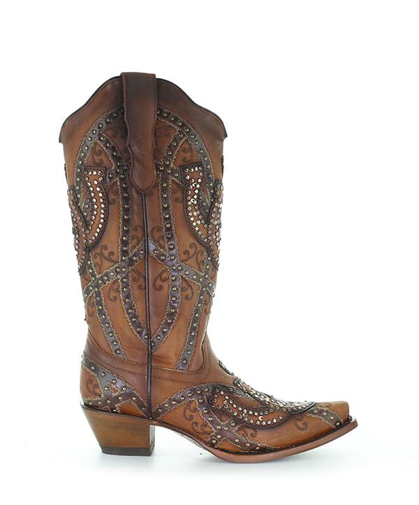 Ladies-Corral-Horse-Shoe-Overlay---Studs-241571