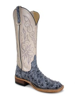 Ladies Anderson Bean Blue Rio Ostrich