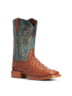 Mens Ariat Gallup Full Quill Ostrich