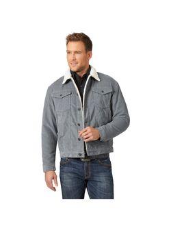 Mens Wrangler Grey Jacket Sheep Lined