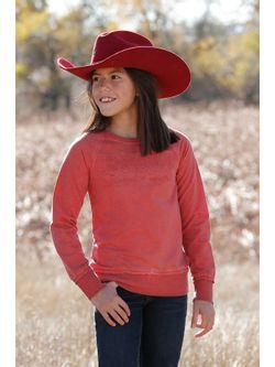 Girls Cinch Red Sweatshirt