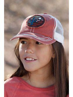 Girls Cinch Red Trucker Cap
