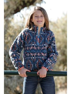 Girls Cinch Multi Fleece Pullover
