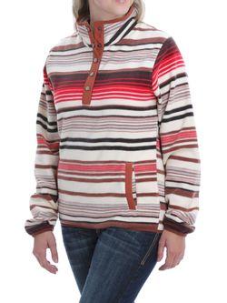 Ladies Cinch Multi Printed Fleece