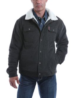 Mens Cinch Deep Gray Corduroy Trucker Jacket