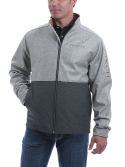 Mens Cinch Multi Gray Bond Jacket