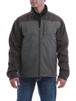 Mens Cinch Brown Color Block