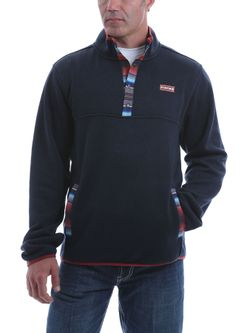 Mens Cinch Navy Fleece Pullover