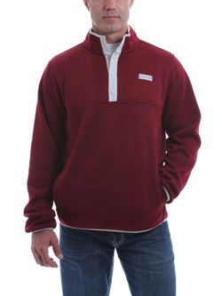 Mens Cinch Burgundy Fleece Pullover
