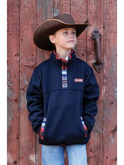 Boys Cinch Navy Fleece Pullover
